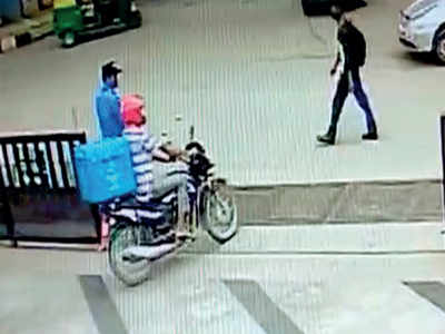 Bengaluru: Man rides off with Domino's Pizza bike