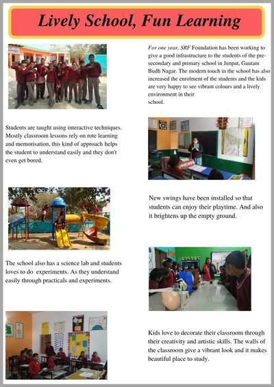 Practical learning is paving the road to success for govt school kids