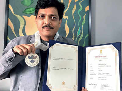 Praveen Morchhale: Got my National Award medal and citation at IFFI