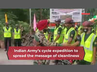Indian Army's cycle expedition to spread the message of cleanliness