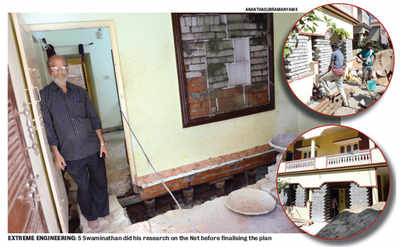 Former HAL manager forced to lift his house by four feet, as BBMP drowns in its muck