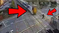 Man saved by a whisker from a speeding train