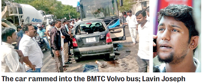 Bengaluru: 4 killed in car-bus crash