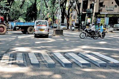 Girinagar School Kids Paint 3d Zebra Crossing To Promote Road Safety