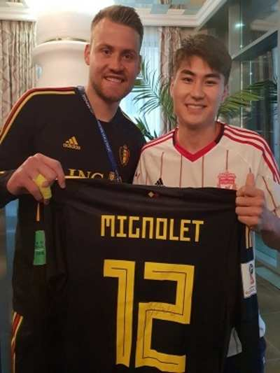 FIFA World Cup 2018: Belgium goalkeeper Simon Mignolet now becomes a reason of happiness for this Kyrgyzstan fan