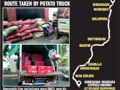 Potato, sanitiser trucks ferry booze to Guj