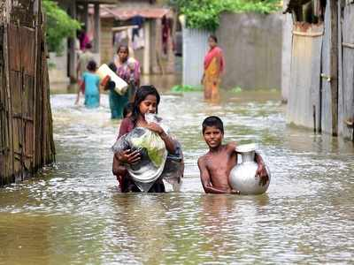 77 dead in floods and landslides in Assam