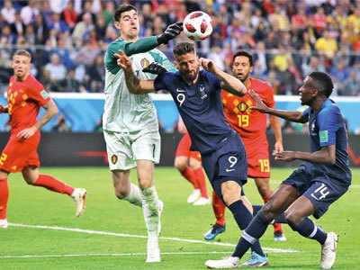 FIFA World Cup 2018: Belgium goalkeeper Thibaut Courtois blasts France for their defensive strategy during semi-final
