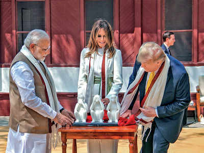 Donald Trump skips mention of Mahatma Gandhi