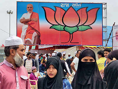 BJP tent at Airport terminal dedicated to Hajis : Nothing official about it