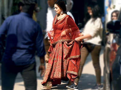 Before lockdown, Madhuri Dixit Nene was spotted at a studio in Mumbai