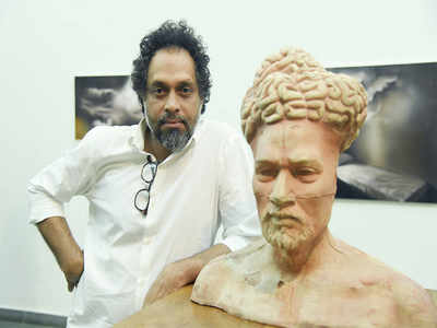 Artist Riyas Komu unveils his solo show in the city after a break of more than a decade