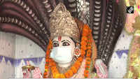 COVID scare: Deities 'wear' face mask in UP temple