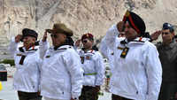 Rajnath Singh meets troops in Siachen along with Army Chief, in his first visit as Defence Minister