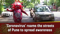 'Coronavirus' roams the streets of Pune to spread awareness