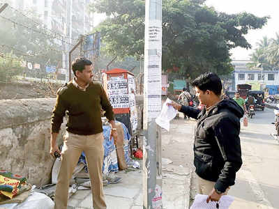 Jilted lover's posters stuck at Hadapsar irk area cops