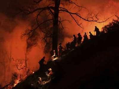 California wildfires: People run from their homes to smoky air