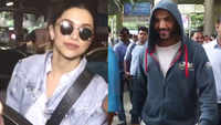 John Abraham, Deepika Padukone spotted at Mumbai airport