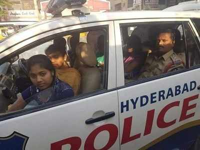 Secunderabad: West Marredpally police inspector helps 40 stranded girls reach exam centre on time