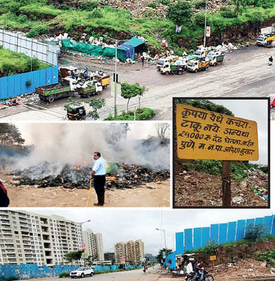 This garbage dump is an eyesore in a posh Kharadi locality