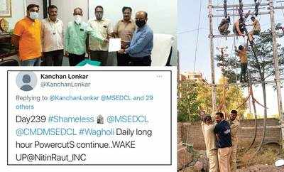 244 continuous days of power cuts for residents of Wagholi