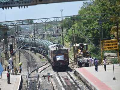 Special water train with 25 lakh litres of water reaches parched Chennai