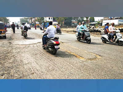 Pimple Gurav residents demand repair of road