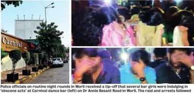 Worli bar raided, 52 patrons held