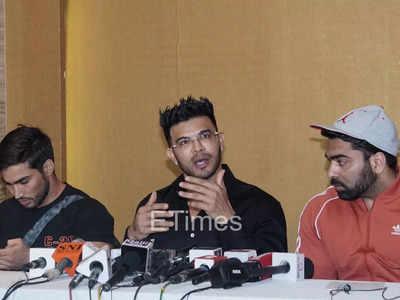 Sahil Khan holds press conference for Manoj Patil suicide case