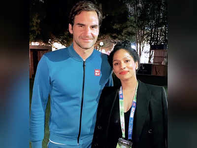 Masaba Gupta's fan girl moment with Tennis star Roger Federer
