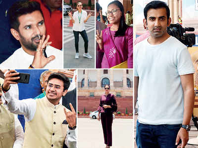 'From grey to green': A wave of fresh air swept through Delhi as newly elected MPs sashayed into Parliament