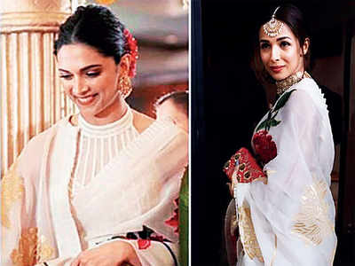 Malaika Arora wears the same sari as Deepika Padukone proving stylish minds think alike
