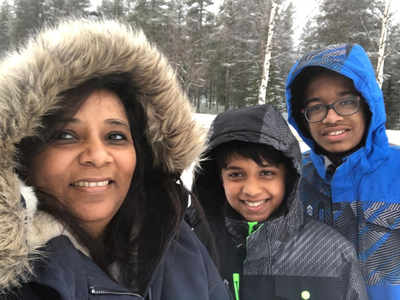 Woman, her two children set record for hoisting Indian flag at the Arctic Circle
