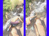 On cam: Student falls down from 200 ft height at Nalichuan waterfall, survived