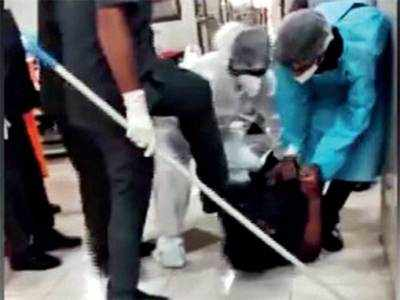 Covid patient 'abused' in Rajkot, video viral