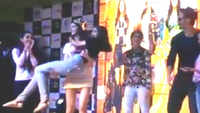 Ananya Panday mimics her co-star Tiger Shroff