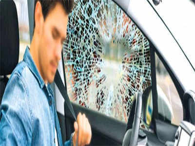 Man breaks car glass, attacks driver