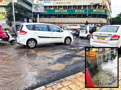 Shivajinagar's leaking drain irks commuters