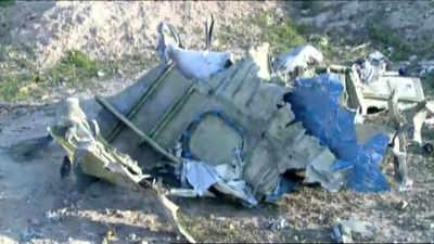 Photos: Ukrainian airplane crashes in Iran, all 176 aboard killed