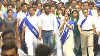 Bengal CM Mamata Banerjee holds padayatra to spread awareness about water conservation in Kolkata