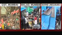 Many feared trapped as part of old building collapses in south Mumbai