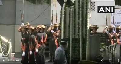 Live updates: Former President Pranab Mukherjee laid to rest with full military honours