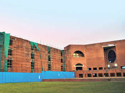IIMA halts demolition process of iconic dorms