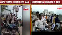 VVIP racism: Cops thrash biker for not wearing helmet, while political leader, his aides freely violate traffic rules