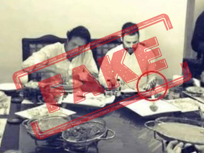 Fake alert: Photo of Rahul Gandhi dining with Pakistan PM Imran Khan is digitally manipulated