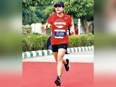 Designer Namrata Joshipura wins half-marathon in New Delhi