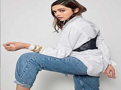 Stylish Deepika strikes a comfy pose in white