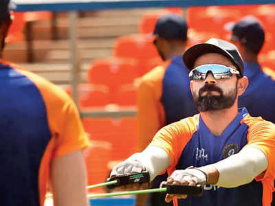 Virat Kohli and boys sweat it out in nets