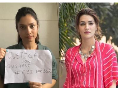 Ankita Lokhande, Kriti Sanon demand CBI enquiry into Sushant Singh Rajput's death
