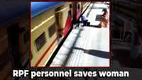CCTV: RPF personnel saves woman who slipped trying to board moving train in Mumbai